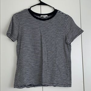 Forever 21 Black White Striped Tee T-Shirt Top